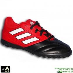 Adidas ACE 17.4 NIÑOS Negro-Rojo Zapatilla Microtaco TURF BA9245 bota futbol James Kroos Koke Rakitic