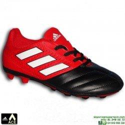 Adidas ACE 17 NIÑOS Negro-Rojo Bota Futbol Hierba Artificial FxG BB5591 James Kroos Koke Rakitic personalizar