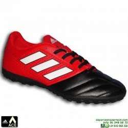 Adidas ACE 17.4 Negro-Rojo Zapatilla Microtaco TURF BB1771 bota futbol hierba artificial James Kroos Koke Rakitic personalizar