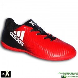 Adidas X 16 NIÑO Negro-Rojo Zapatilla Futbol Sala BB5729 Gareth Bale personalizar