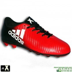 Adidas X 16.4 NIÑO Negro-Rojo Bota Futbol Hierba Artificial FxG BB1041 Gareth Bale Luis Suarez