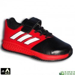 Adidas RAPIDA TURF ACE EL INFANTIL Rojo-Negro VELCRO Zapatilla Futbol Calle BA9701 James Kroos Koke Rakitic personalizar
