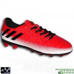 ADIDAS MESSI 16 NIÑOS Rojo-Negro Bota Futbol Tacos FxG BB1032 JUNIOR Hierba artifical personalizar