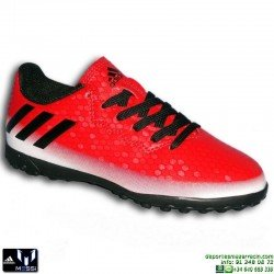 Adidas MESSI 16.4 NIÑOS Rojo-Negro Zapatilla Futbol Multitaco BB5654 JUNIOR Hierba artifical