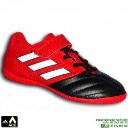 Adidas ACE 17.4 NIÑO Velcro Rojo-Negro Zapatilla Futbol Sala BB5588 bota James Kroos