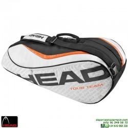 Raquetero HEAD TOUR TEAM 6 Raquetas Tenis Plata-Negro 283236-SIBK
