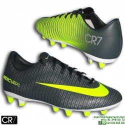 Nike MERCURIAL CR7 Niño Bota Futbol Cristiano Ronaldo Taco AG VAPOR Gris Verdoso 852484-376