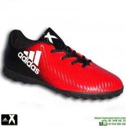 ADIDAS X 16.4 NIÑO Negro-Rojo zapatilla Futbol hierba Artificial turf BB5724 Gareth Bale Luis Suarez personalizar
