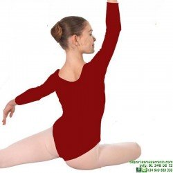 Maillot Manga Larga Niña Rojo Ballet Gimnasia Ritmica Danza Sevillanas happy dance 1005 Poliamida Espuma