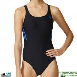 Bañador Natación Mujer Adidas I S 1PC Negro AY5278 lycra infinitex