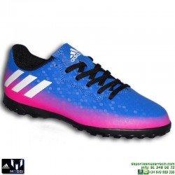 Adidas MESSI 16.4 NIÑOS Azul-Rosa Zapatilla Futbol Multitaco TURF BB5655 Junior Hierba artifical personalizar