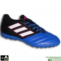 Adidas ACE 17.4 Negro-azul Zapatilla Microtaco TURF BB1774 bota futbol hierba artificial james kroos koke hombre personalizar