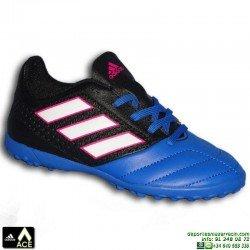 Adidas ACE 17.4 NIÑOS Negro-Azul Zapatilla Microtaco TURF