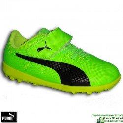 PUMA EVOPOWER VIGOR 4 TT 5 NIÑO Verde Zapatilla Futbol Microtaco TURF 104305-01 junior infantil Griezmann