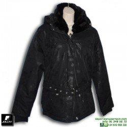 Abrigo Anorak Mujer Joluvi AMAIA Negro 231079 parka