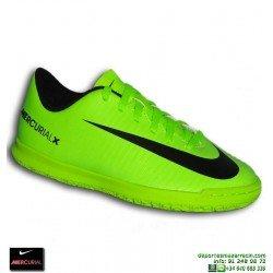 Nike MERCURIAL Niño Zapatilla Futbol Sala Cristiano Ronaldo Neymar verde VORTEX 831953-303 junior personalizable
