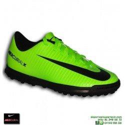 Nike MERCURIAL Niño Neymar CR7 Zapatilla Microtaco Turf Verde 1f4308aed5fd4