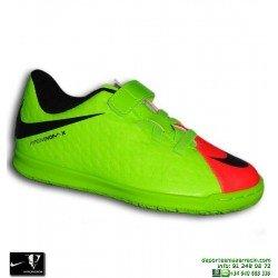 Nike HYPERVENOM Niño Velcro Zapatilla Futbol Sala verde-Rosa VORTEX 852591-308 bota junior
