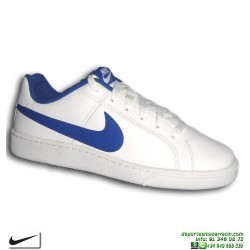 Deportiva Clasica Nike COURT ROYALE Blanco-Azul 749747-141 Hombre sneakers