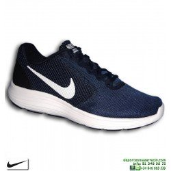 Nike REVOLUTION 3 Azul Marino Zapatilla Deportiva 819300-406 HOMBRE