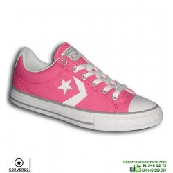 Sneaker CONVERSE SP OX Mujer Rosa-Blanco deportiva lona tela Moda 638441C-662
