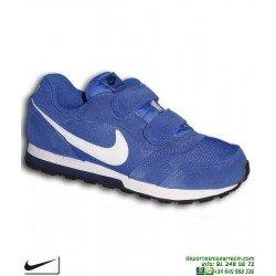 Zapatilla Nike MD RUNNER 2 Niño PSV Azul cierre Velcro Deportiva clasica 807317-406 sneakers junior personalizable