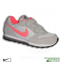 Zapatilla Nike MD RUNNER 2 Niña PSV beige cierre Velcro Deportiva clasica 807317-007 sneakers junior personalizable