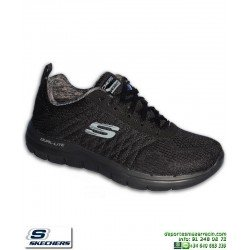 Zapatilla Skechers FLEX ADVANTAGE 2 Negro Hombre Memory Foam 52185 BBK personalizable