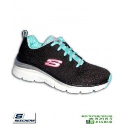 zapatilla Skechers Fashion Fit Statement Piece Mujer Memory Foam Negro 12704 BKTQ personalizable