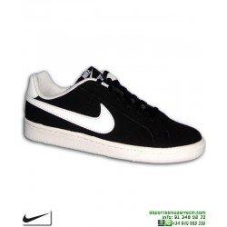 Zapatilla Clasica Nike COURT ROYALE SE Chica Piel negro-blanco 833535-002 mujer