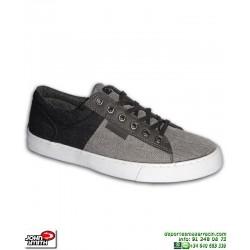 Zapatilla Tela Lona John Smith LONER Gris-Negro Hombre sneakers chico