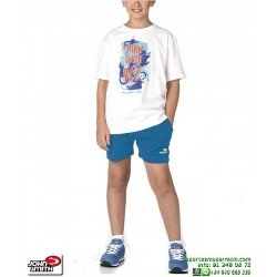 Conjunto Camiseta Short Niños John Smith CARIM Blanco pantalon corto