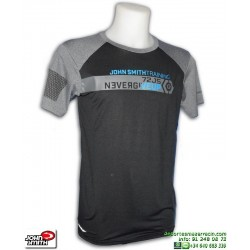 Camiseta Deporte JOHN SMITH TIROLO negro-gris Hombre poliester elastico ajustada