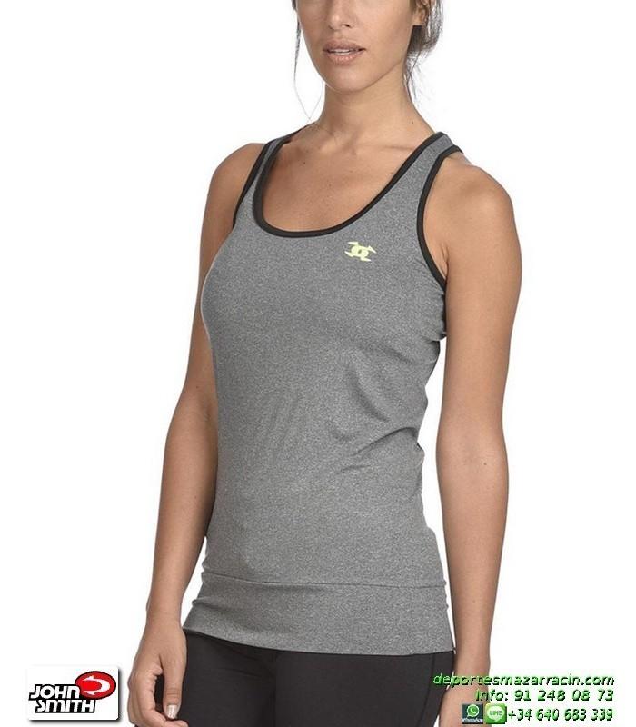 Camiseta Deporte Tirantes Mujer JOHN SMITH PENYA Gris vigore c0ccaf4064622