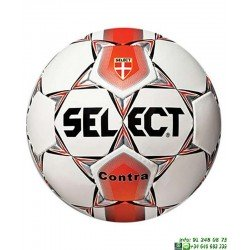Balon Futbol SELECT CONTRA 5 Blanco-Rojo hierba artificial