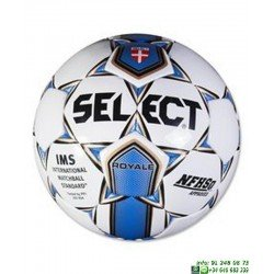 Balon Futbol SELECT ROYALL Blanco-Azul hierba natural