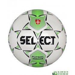 Balon Futbol Sala SELECT MIMAS 62 Blanco-Verde personalizar