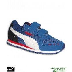 Deportiva PUMA CABANA RACER MESH V Niño VELCRO Azul Marino 360245-22 velcro sneakers