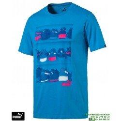 Camiseta Puma SNEAKER PHOTO TEE Azul Hombre 590935-11 Algodón