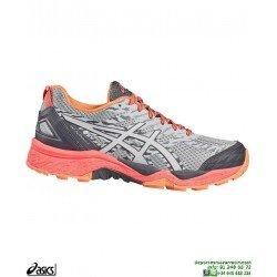 ASICS GEL-FUJITRABUCO 5 Mujer Deportiva Running Cross Campo T6J5N-4920 Azul zapatilla control