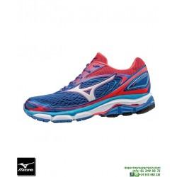 Mizuno WAVE INSPIRE 13 Mujer Deportiva Running Pronacion Azul J1GD174401 zapatilla Correr personalizar