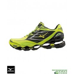 Mizuno WAVE PROPHECY 6 Negro-Amarillo Deportiva Running Neutra J1GC170044 Hombre zapatilla Correr
