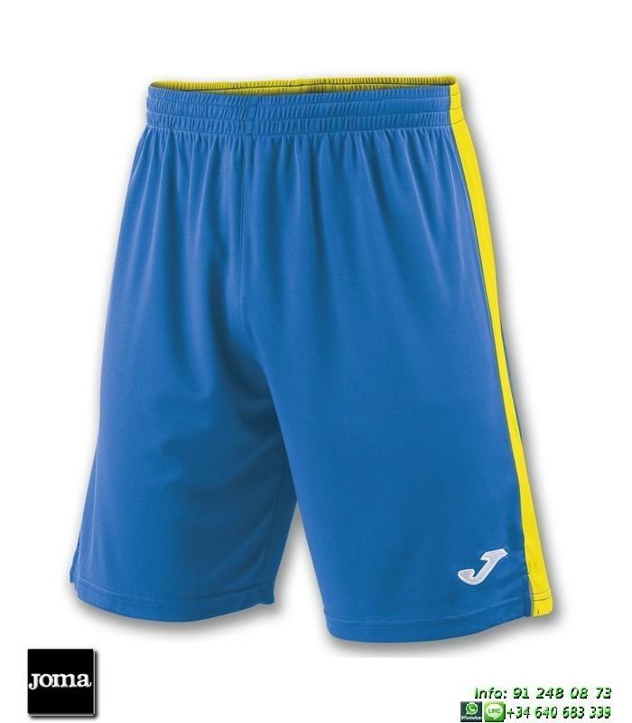 ef8cccb0c2e JOMA Pantalon Corto TOKIO II SHORT Futbol AZUL ROYAL AMARILLO 100684.709