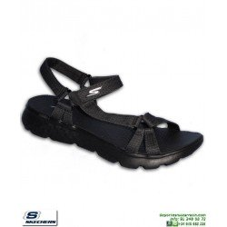Sandalia SKECHERS ON THE GO Mujer Radiance Negro chancla 14675/BBK