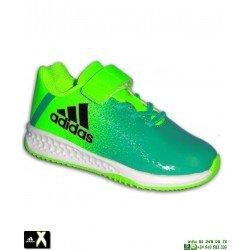 Adidas RAPIDA TURF X EL INFANTIL Verde VELCRO Zapatilla Futbol BA9707