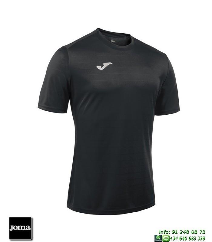 6f8e482df18be JOMA Camiseta CAMPUS II Futbol NEGRA 100417.100 equipacion