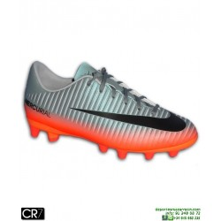Nike MERCURIAL CR7 Niño Bota Futbol Cristiano Ronaldo Gris-Naranja AG-PRO 73cc5a09dcd5b