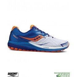 Saucony RIDE 9 Zapatilla Running Neutra Blanco-Azul S20318-5 hombre Correr