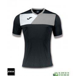 JOMA Camiseta CREW II Futbol NEGRO - GRIS 100611.111 equipacion
