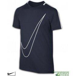Camiseta Deporte Junior NIKE DRY TOP SS ACADEMY Poliester DRI FIT Azul Marino 832967-451